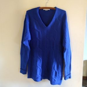 Cobalt Blue Cable Knit Sweater Tunic